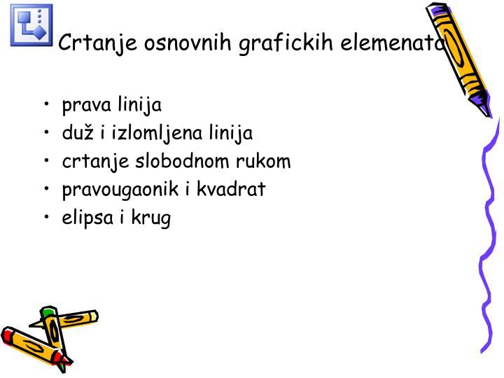 Crtanje osnovnih grafickih elemenata