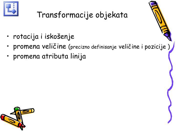 Transformacije objekata