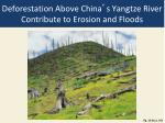 deforestation above china s yangtze river contribute to erosion and floods