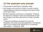 2 2 the quadruple entry principle