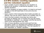 2 6 sfc models counting equations and the redundant equation