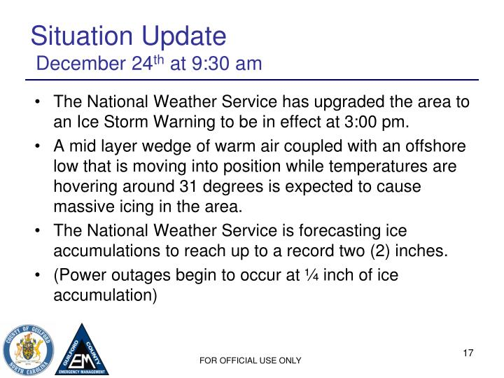 Situation Update