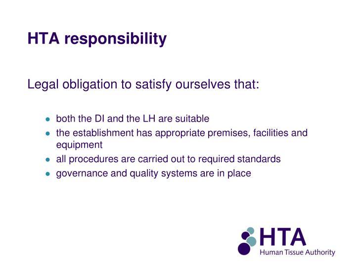 HTA responsibility