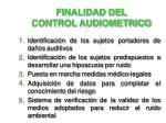 finalidad del control audiometrico