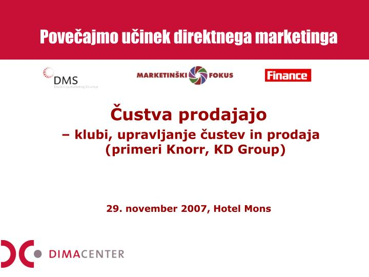 Pove ajmo u inek direktnega marketinga