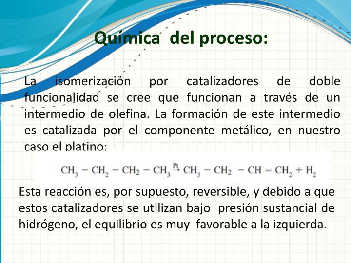 Química  del proceso:
