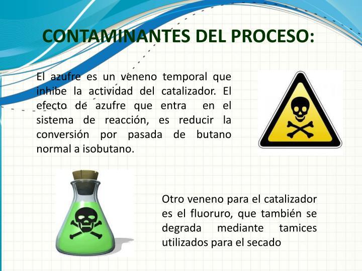 CONTAMINANTES DEL PROCESO:
