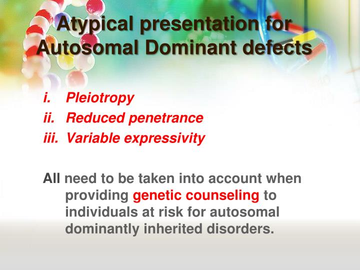 Atypical presentation for