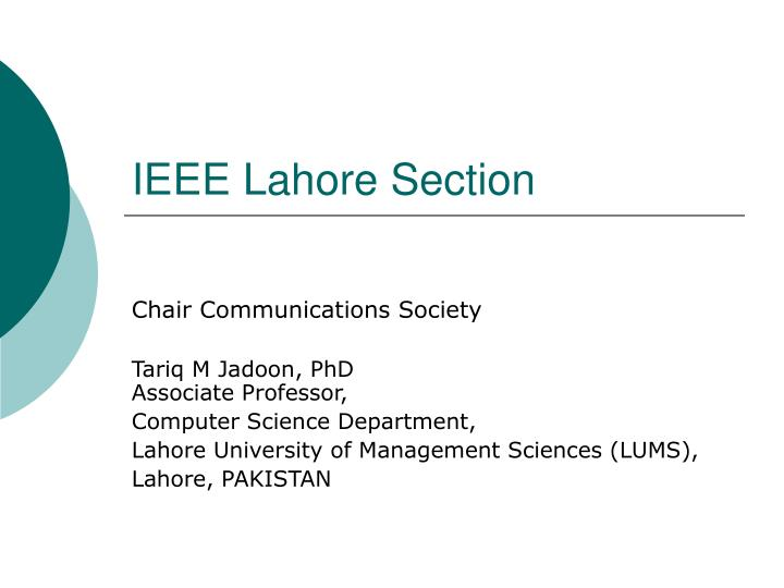 Ieee lahore section