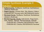 simple synthesis example ii solution