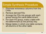 simple synthesis procedure