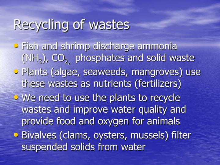 Recycling of wastes