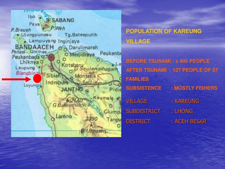 POPULATION OF KAREUNG VILLAGE