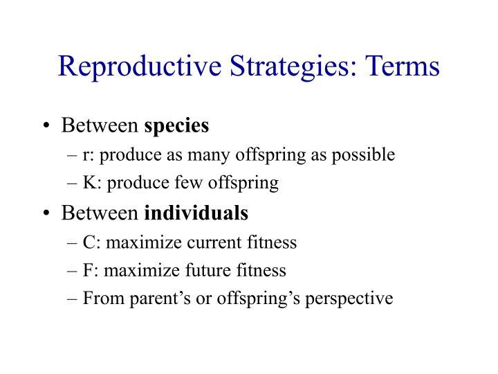 Reproductive Strategies: Terms
