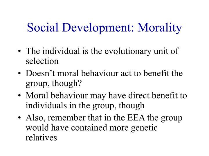 Social Development: Morality