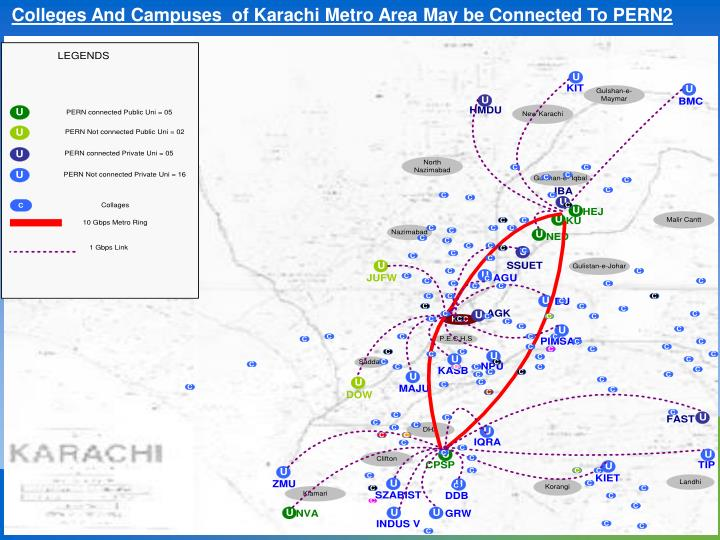 Colleges And Campuses  of Karachi Metro Area May be Connected To PERN2