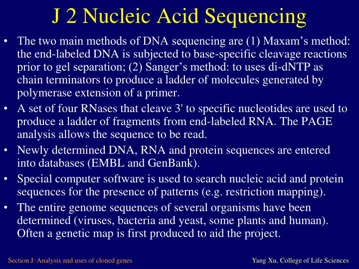 characterization of nucleic acids essay Essay on nucleic acid essay contents: essay on the introduction to nucleic acids essay on the chemical composition of nucleic acids essay characterization.