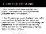 1 peter 1 17 2 11 12 niv