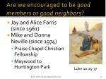 are we encouraged to be good members or good neighbors