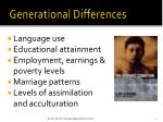 generational differences