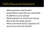 table d iscussion questions