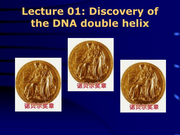 lecture 01 discovery of the dna double helix n.