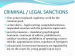 criminal legal sanctions