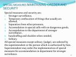 special measures maintaining oreder and security