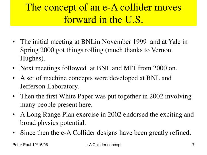 The concept of an e-A collider moves forward in the U.S.
