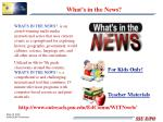 what s in the news