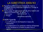 la direttiva 2000 43