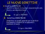 le nuove direttive