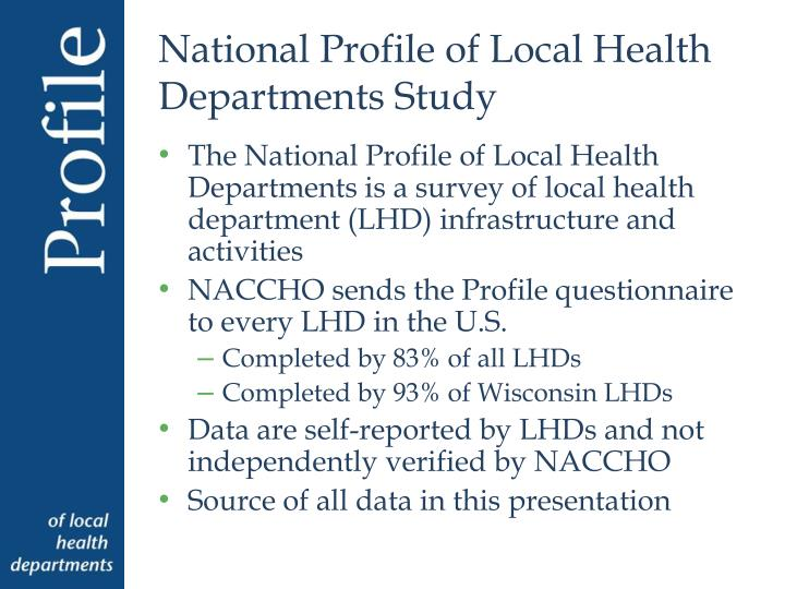 National Profile of Local Health Departments Study