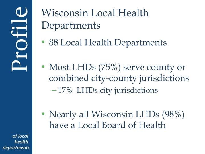 Wisconsin Local Health Departments