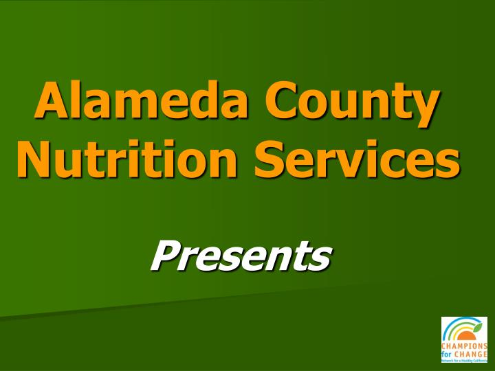 alameda county nutrition services n.