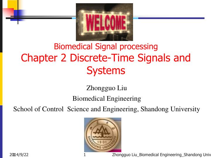 biomedical signal processing chapter 2 discrete time signals and systems n.