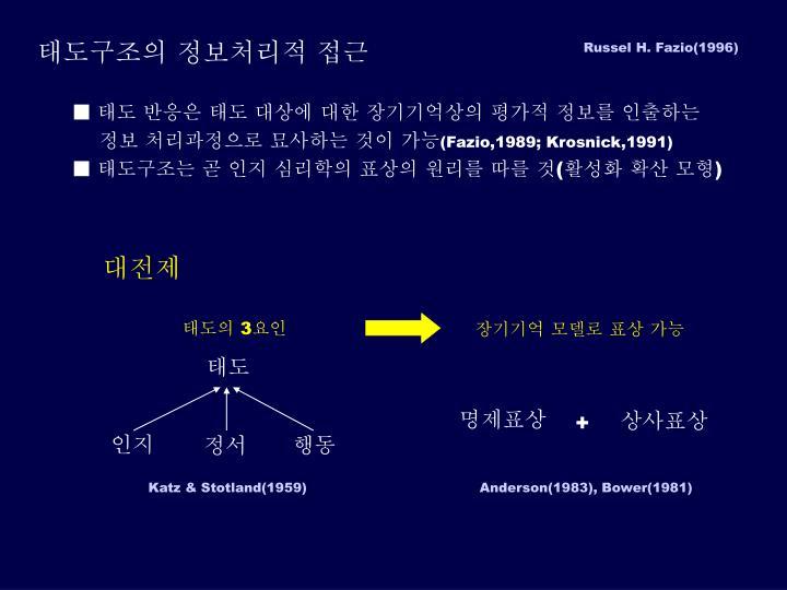 태도구조의 정보처리적 접근