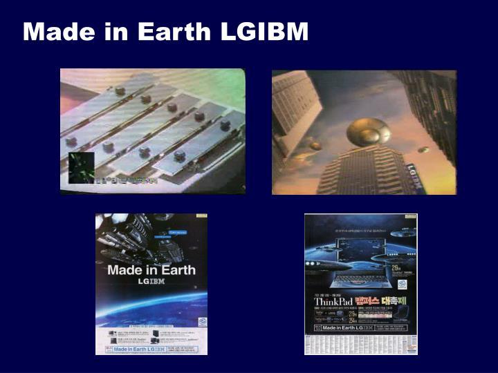 Made in Earth LGIBM