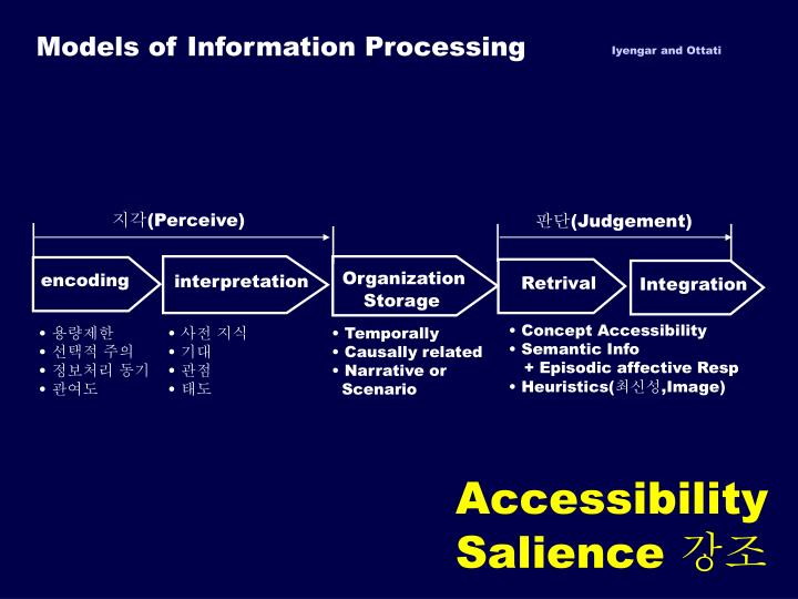 Models of Information Processing