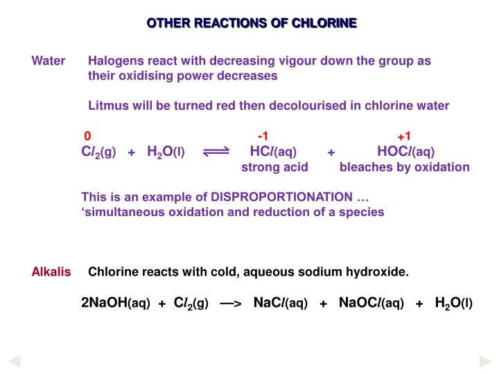 onion reaction to chlorine Calcium chloride is an inorganic compound, a salt with the chemical formula cacl 2 molten calcium chloride can be electrolysed to give calcium metal and chlorine.