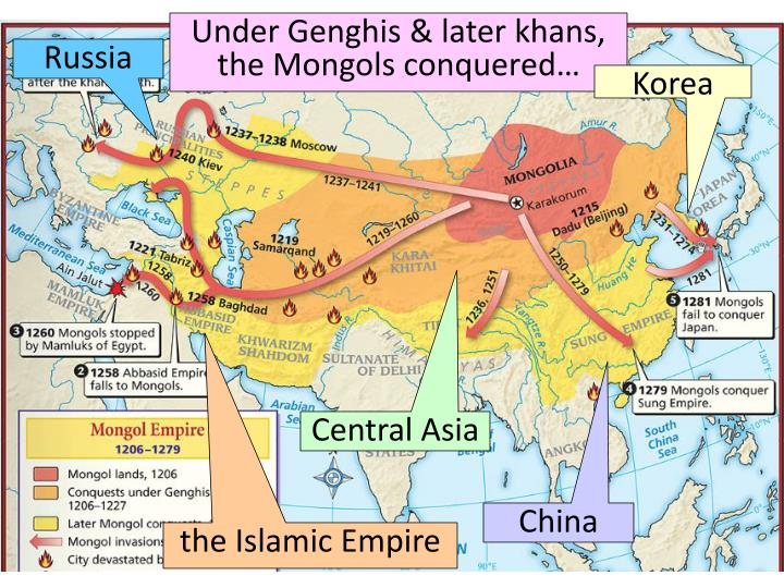impact of the mongols Mongolian period of the silk road genghis khan whose plans were to conquer the silk road realized that with the impressive military power of mongols it would be impossible to control all the routes for long.