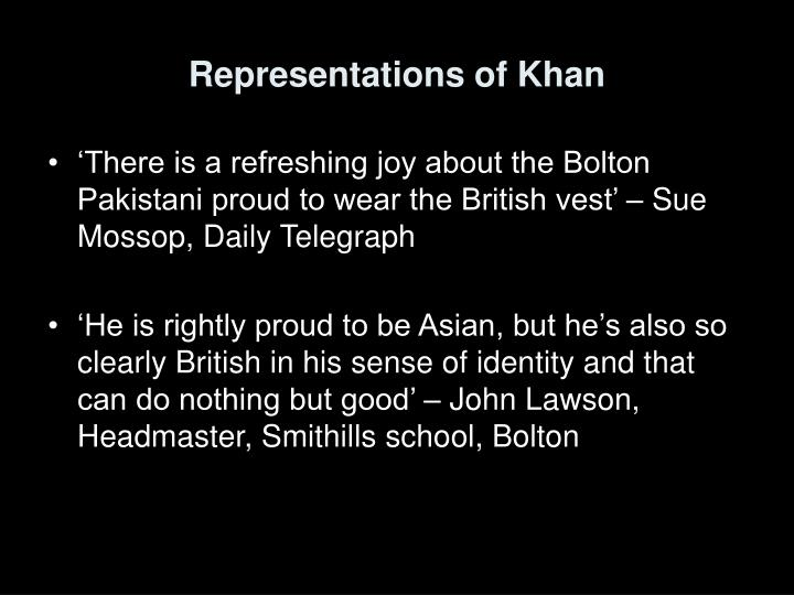 Representations of Khan