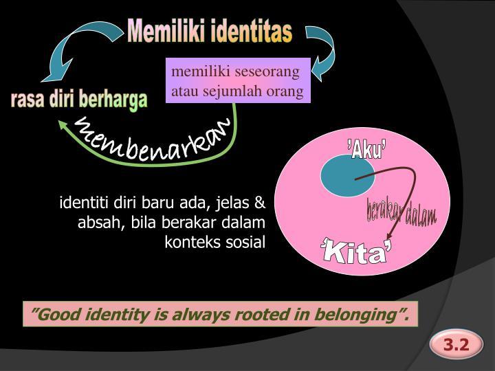 Memiliki identitas