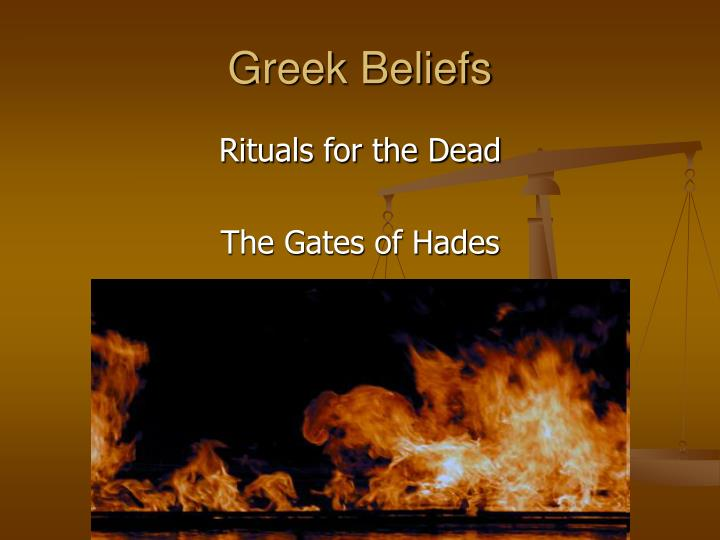 Greek Beliefs