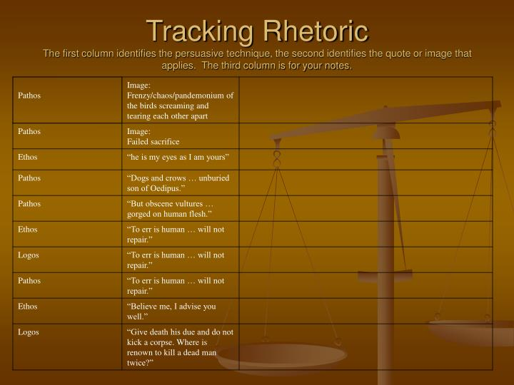 Tracking Rhetoric