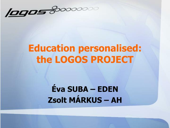 Education personalised the logos project