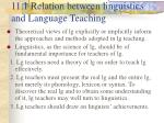 11 1 relation between linguistics and language teaching