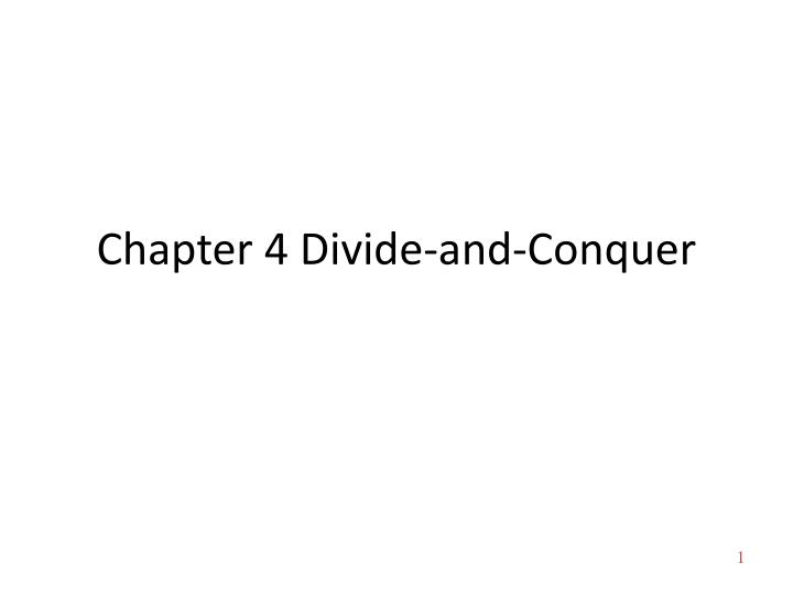 chapter 4 divide and conquer n.