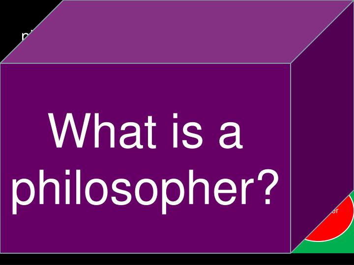 What is a philosopher?