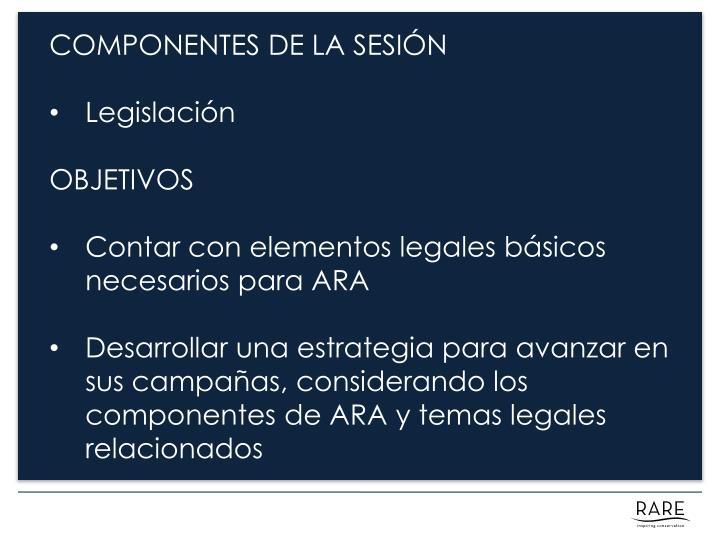 COMPONENTES DE LA SESIÓN